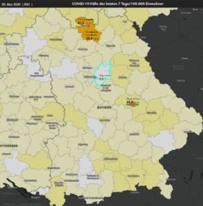 29. Mai | RKI-Karte | Bayern